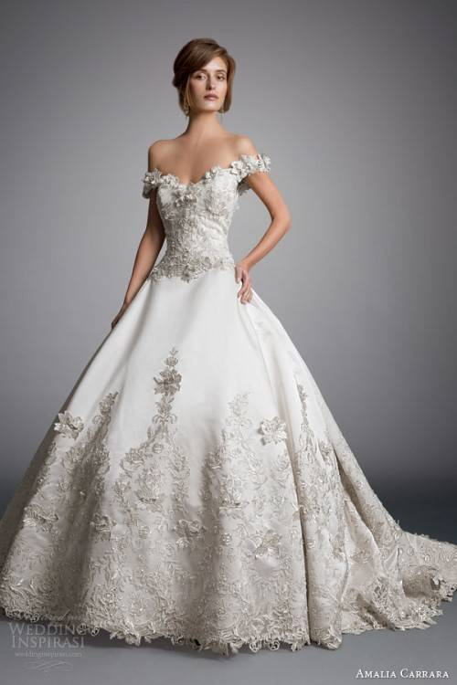 Simple Style 2016 Lace Wedding Dresses Off Shoulder Tulle Applique Ball Gowns Sleeveless Sweep Train Spring Long Bridal Dress Online with $104