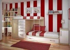 red white and black rooms