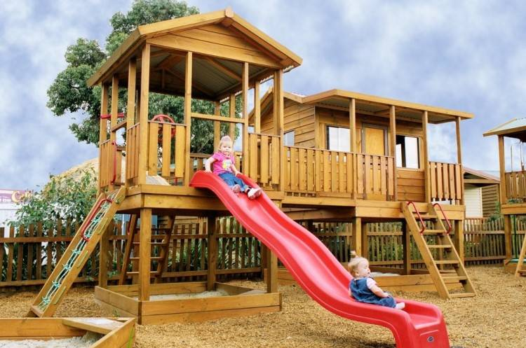 Outdoor Playhouse With Slide With Playhouse With Slide And Sandbox 6 X9 Outdoor Living Today And Playhouse With Slide Playhouse With Slide With Outdoor